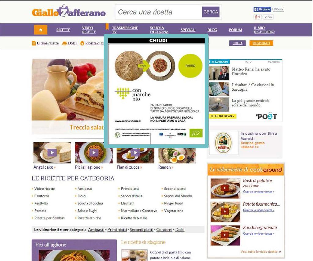 Giallozafferano.it-overlayer, febbraio 2014