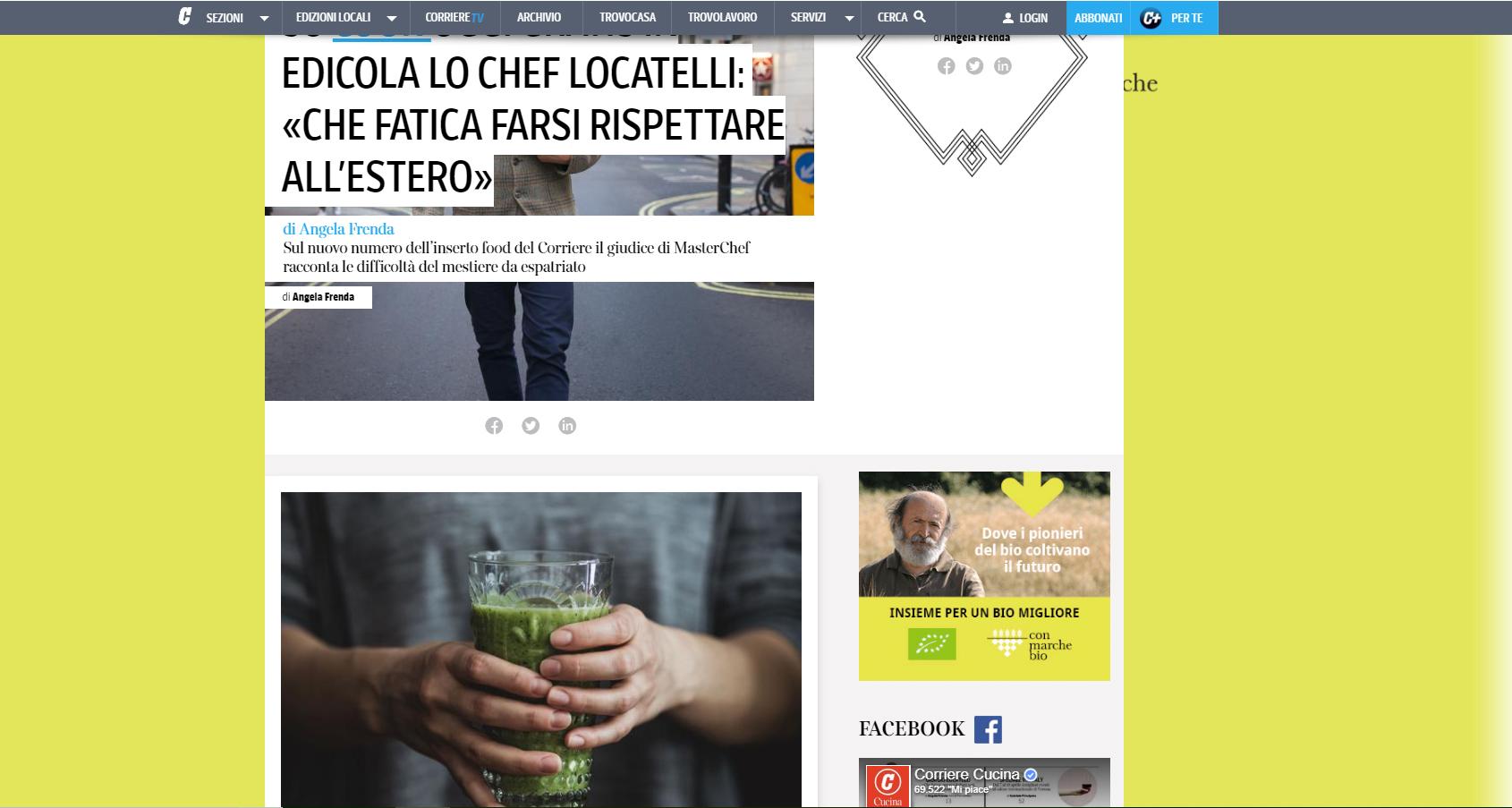 RCS, Corriere della sera, marzo 2019